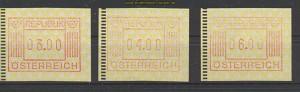 Österreich 3 postfrische ATM  (20279)
