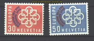 Schweiz Mi # 681/82 postfrisch 100,00 Euro (17046)