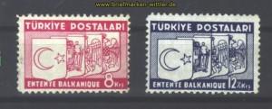 Türkei Mi # 1014/1015 postfrisch (14471)