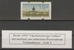 BerlinATM 1987 Mi # 1 teilweise Werteindruck ** (20018)