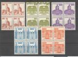 Bund Mi # 1139/43 postfrisch Burgen & Schlösser als 4er-Blöcke (17648)