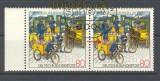 Bund Mi # 1337 I gestempelt TdB Plattenfehler Strich auf Geländer (17652)