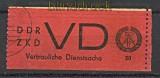DDR Dienst VD Mi # 1 A gestempelt vertr. Diensts(20861)