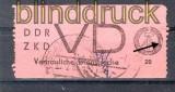 DDR Dienstmarken D Mi # 2 II gestempelt Vertrauliche Dienstsache Plattenfehler (21262)