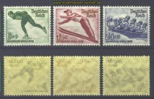 dt. Reich Mi # 600/02 postfrisch Winterolympiad2(16539)
