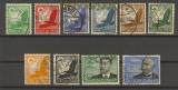 dt. Reich Mi # 529/39 Flugpost 1934 Rundstempel (18006)