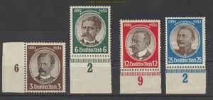 dt. Reich Mi # 540/43 Kolonialforscher postfrisc(21064)