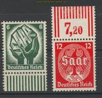 dt. Reich Mi # 544/45 Saar postfrisch (21065)