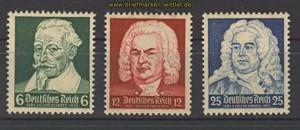 dt. Reich Mi # 573/75 Komponisten postfrisch (21075)