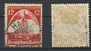 dt. Reich Mi # 587 x I weißes Gefieder geprüft (21533)