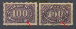 dt. Reich Mi # 219 I postfrisch + gestempelt (17027)