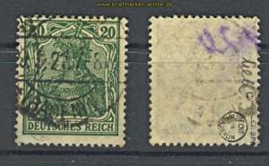 dt. Reich Mi # 143 c gestempelt geprüft Infla (17734)