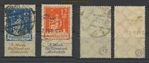 dt. Reich Mi # 233/34 gestempelt prüft Infla (20030)