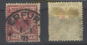 dt. Reich Mi # 47 b II gestempelt geprüft (13885)