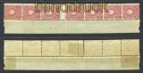 dt. Reich Mi #  41b senkr. 5er-Streifen ZS */**  (14323)