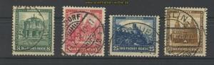 dt. Reich Mi # 459/62 Nothilfe 1931 gestempelt (20916)