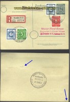 SBZ Mi #  48 A c auf R-Karte gepr. Ströh  (16282)