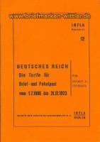 Infla Band 12 Tarife Brief- + Paketpost 1906-192(21366)