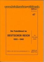 Infla Band 47 Paketdienst dt. Reich 1933-45 (21368)