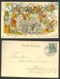 Gruß vom Schützenplatz farb-Litho 1902 Brandenburg (d3633)