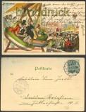 Gruß von der Leipziger Messe farb-Litho 1902 (d3652)