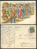 Gruß vom Jahrmarkt farb-Litho 1906 Lehe (d3658)