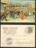 Gruß vom Jahrmarkt farb-Litho 1904 Unser Fritz Herne (d3659)