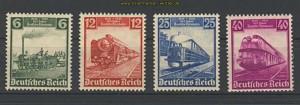 dt. Reich Mi # 580/83 Eisenbahn postfrisch (22339)