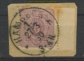 dt. Reich Mi #  40 Randstück gestempelt Briefstück (22333)