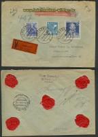 all. Bes. Wertbrief Bamberg 12.4.1948 Düsseldorf (23480)