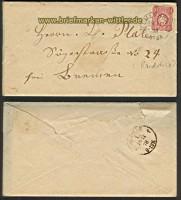 dt. Reich Mi # 33 EF Randstück DELMENHORST 1878 (22397)