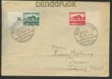 dt. Reich Mi # 673/74 SSt. Ersttagsbrief Saartheater (23404)