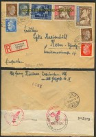 dt. Reich Mi # 820/22  Auslands-Zensur-R-Brief (23416)
