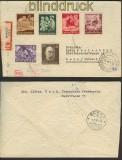 dt. Reich Mi # 834, 864 + 869/72 Auslands-Zensur-R-Brief (23422)