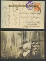 dt. Reich Bahnpost Bentheim-Emlichheim Zensur 16.11.1917 (23468)