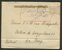 dt. Reich Gebühr bezahlt Wiesbaden 15.9.1923 Auslandsbrief (22250)