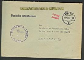 all. Besetzung Gebühr bezahlt Mainz 4.10.1948 (22252)