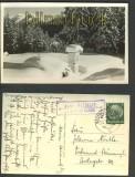 Blick Olperer sw-Foto-AK Landpoststempel P. Deutsch Matrei 1939 (a0680)