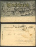 Basel sw-AK Strassburger Denkmal Hirsebreifahrt 1904(a0682)