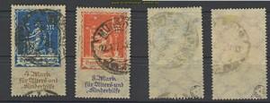 dt. Reich Mi # 233/34 gestempelt geprüft Infla Berlin (23583)