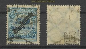 dt. Reich Dienst Mi #  88 gestempelt gepr. Infla (23610)