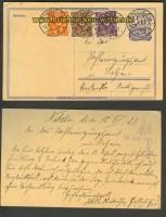 dt. Reich Mi # 224 aa Postkarte Posche 17.4.1923 (23613)