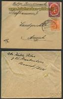 dt. Reich Mi # 110 a MiF Fernbrief Neuwerk (23612)