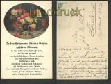 In das Heim eines schönen Geistes gehören Blumen farb-AK (d3493)