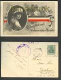 Glück- und friedensreiches Neujahr farb-AK 1915 (d3515)