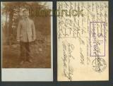 Einzelaufnahme eines Soldaten sw-AK 1.5.1915 (d3567)
