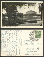 Breslau sw-AK Jahrhunderthalle mit Pergola 1938 (d3628)