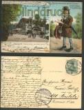 Chemnitz farb-AK Waldschänke 1906 (d3730)