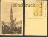 Danzig sw-AK Langer Markt mit Rathaus ungebraucht (d3748)