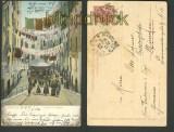 Genova farb-AK I Truogoli di S. Brigida 1907 (a0709)